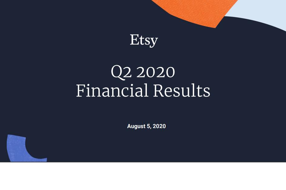 Etsy(ETSY)Q2-2020主要ポイントの整理と考察